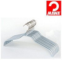 MAWA(マワ)社 10本セット マワハンガー 滑らないハンガー レディースハンガー シルバー【代引不可】【日用品館】