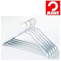 MAWA(マワ)社 5本セット マワハンガー 滑らないハンガー ニューボディーフォーム スーツ用 シルバー【代引不可】【日用品館】