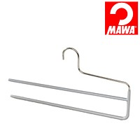 MAWA(マワ)社 マワハンガー 滑らないハンガー スラックスハンガー ズボンハンガー シルバー【代引不可】【日用品館】