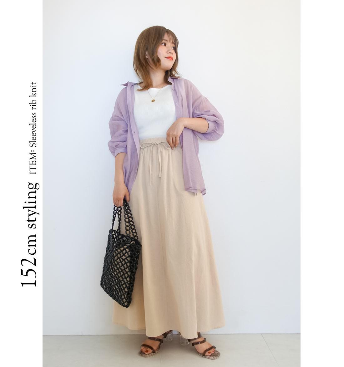 152cm styling ITEM: Sleeveless rib knit