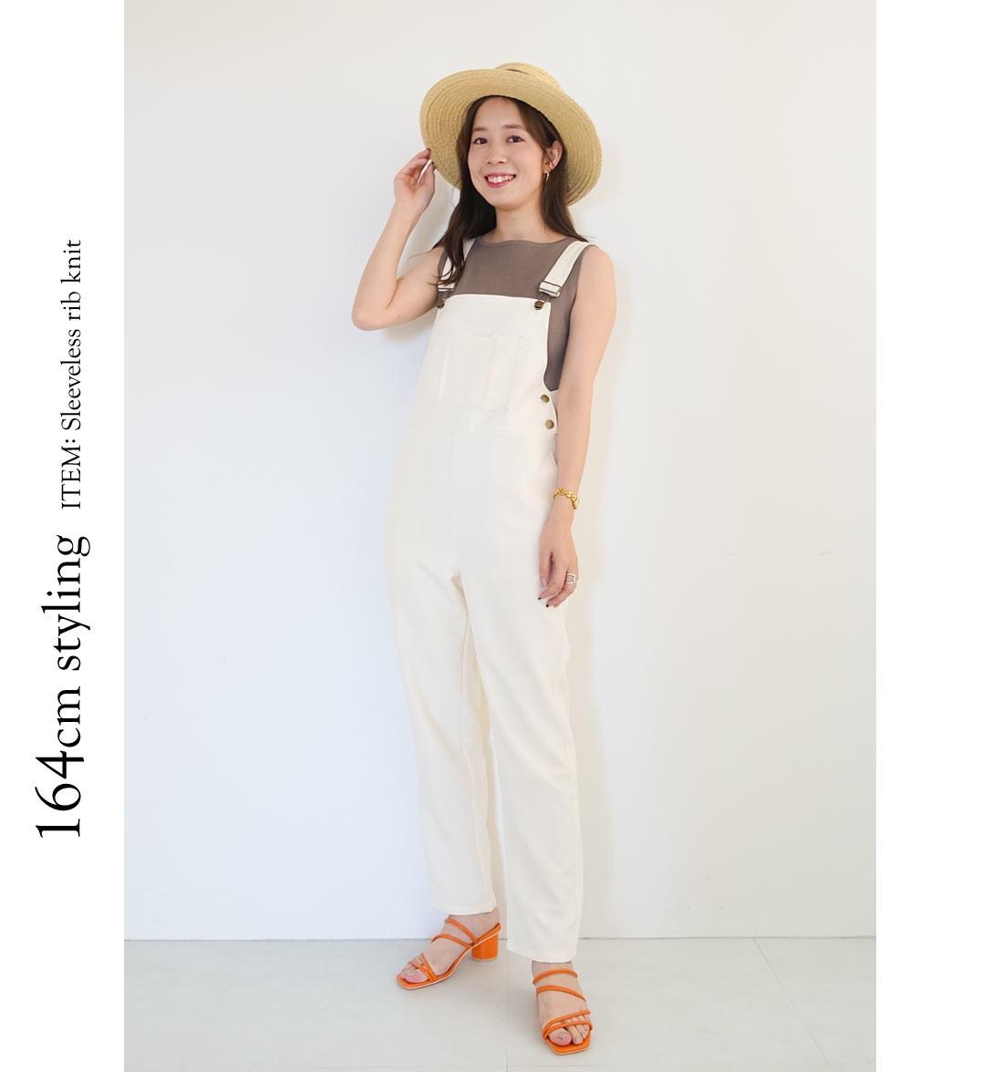 164cm styling ITEM: Sleeveless rib knit