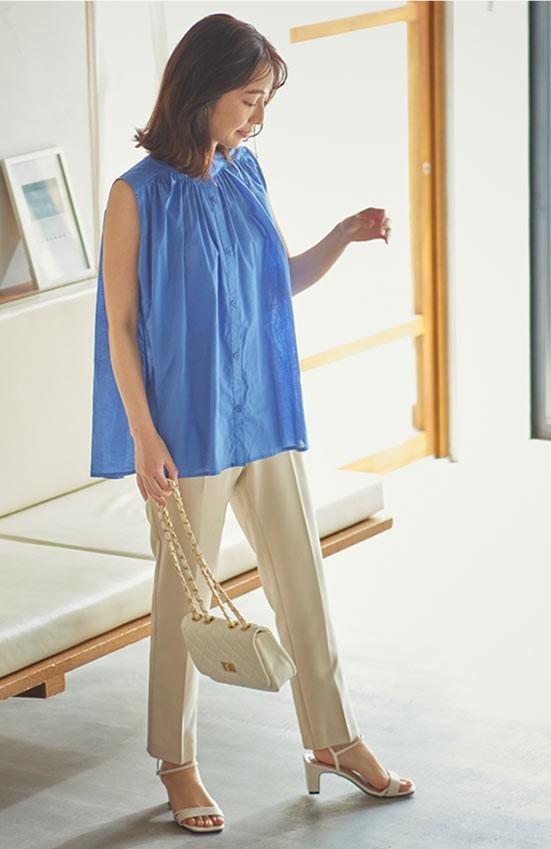 インド綿シリーズindyを着た女性