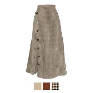 サイドボタンスリットスカート