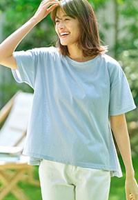 [ ASELEAR ]汗染み防止AラインTシャツ