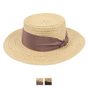 UVワイドリボンカンカン帽