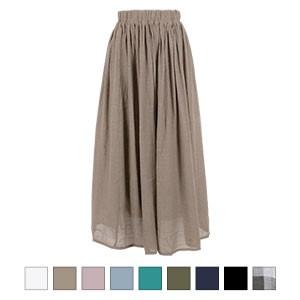 スラブ素材マキシ丈スカート