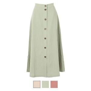 ウッドボタンスカート