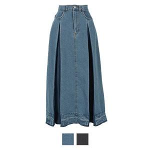 インバーテッドデニムスカート