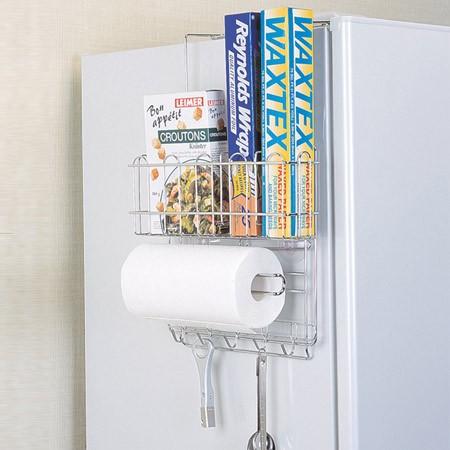 キッチンストレージ 冷蔵庫サイド収納ラック