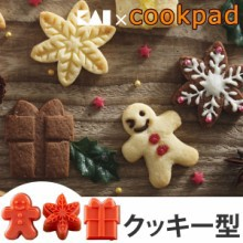 クッキー型 抜き型 日本製 ジンジャーブレッドマン ギフトボックス 雪