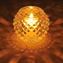 キャンドルホルダー キャンドルグラス ガラス製 ダイヤモンドボール