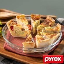 グラタン皿 大皿 26cm パイレックス Pyrex 丸 耐熱ガラス オーブンウェア ディッシュ 皿 食器