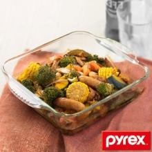 グラタン皿 大皿 26cm パイレックス Pyrex スクエア 耐熱ガラス オーブンウェア ディッシュ 皿 食器
