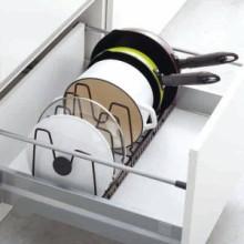 伸縮式フライパン&鍋ブタスタンド ファビエ