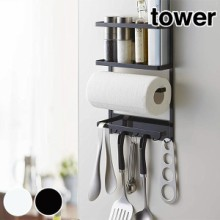 キッチンツールラック マグネット式 タワー tower 冷蔵庫サイドラック スチール製