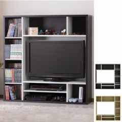 テレビ台 壁面収納 DVDラック付 オールインワン 幅115cm