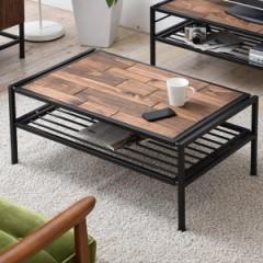 センターテーブル ローテーブル GRANT 天然木 スチールフレーム 幅90cm