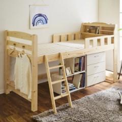 ロフトベッド シングル 木製 コロ