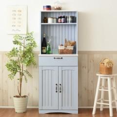 カップボード 食器棚 カントリー調 フレンチスタイル 幅60cm