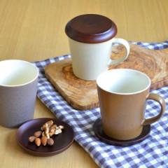 マグカップ CAFEマグ コースター付 300ml 陶器製