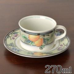 カップ&ソーサー 270ml 洋食器 ガーデンハーベスト 硬質陶器