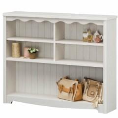 オープンラック 木製 3段 本棚 シャビー調 モンシェリーヌ 幅112cm