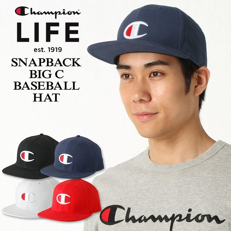 チャンピオン ライフ キャップ メンズ レディース 帽子 USAモデル ブランド ビッグロゴ アメカジ スナップバック