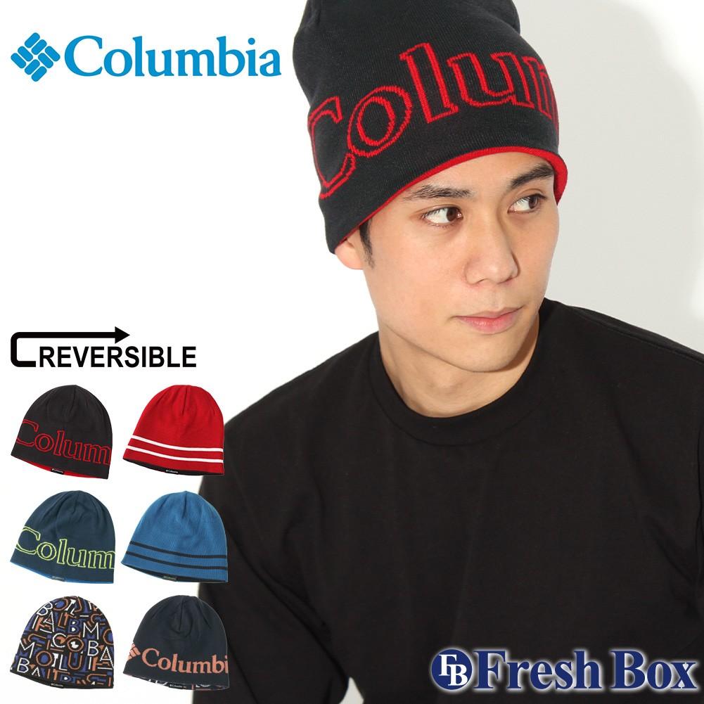 Columbia コロンビア ニット帽 メンズ ブランド ニットキャップ リバーシブル ビーニー 帽子 メンズ ニット キャップ (columbia-1862661)