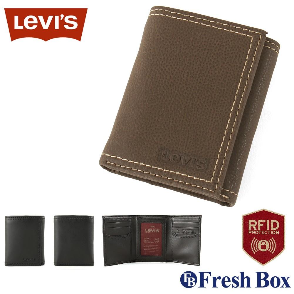 Levis リーバイス 財布 メンズ 三つ折り ブランド カジュアル 本革 コンパクト [levis-31lv110021] USAモデル