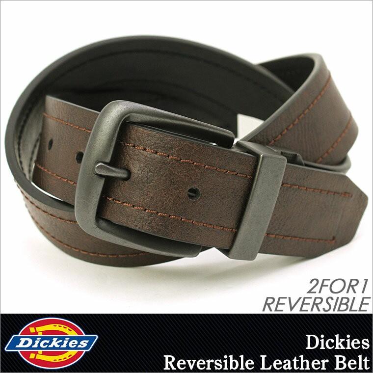 ディッキーズ ベルト リバーシブル メンズ 本革 レザー 11DI02N5 大きいサイズ USAモデル Dickies カジュアル ロング