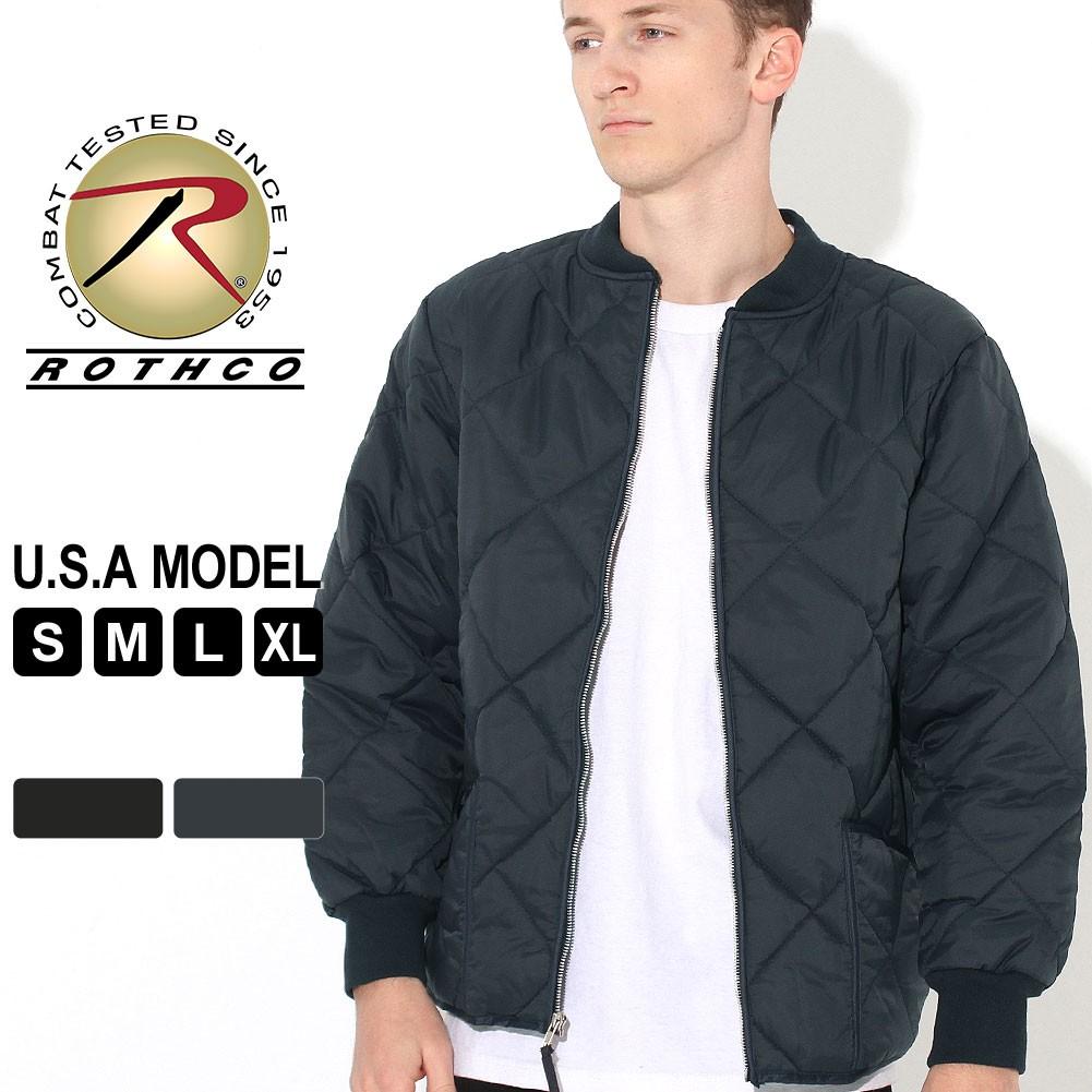 ロスコ キルティングジャケット サーマルライニング メンズ フライトジャケット 大きいサイズ USAモデル 米軍 ブランド ROTHCO