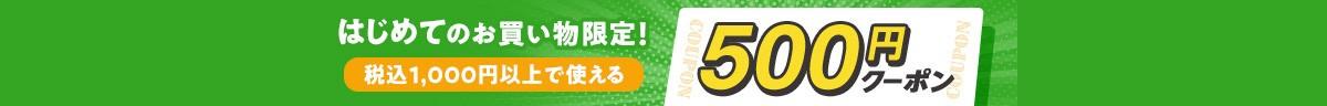 初めてのお買い物で500円クーポン