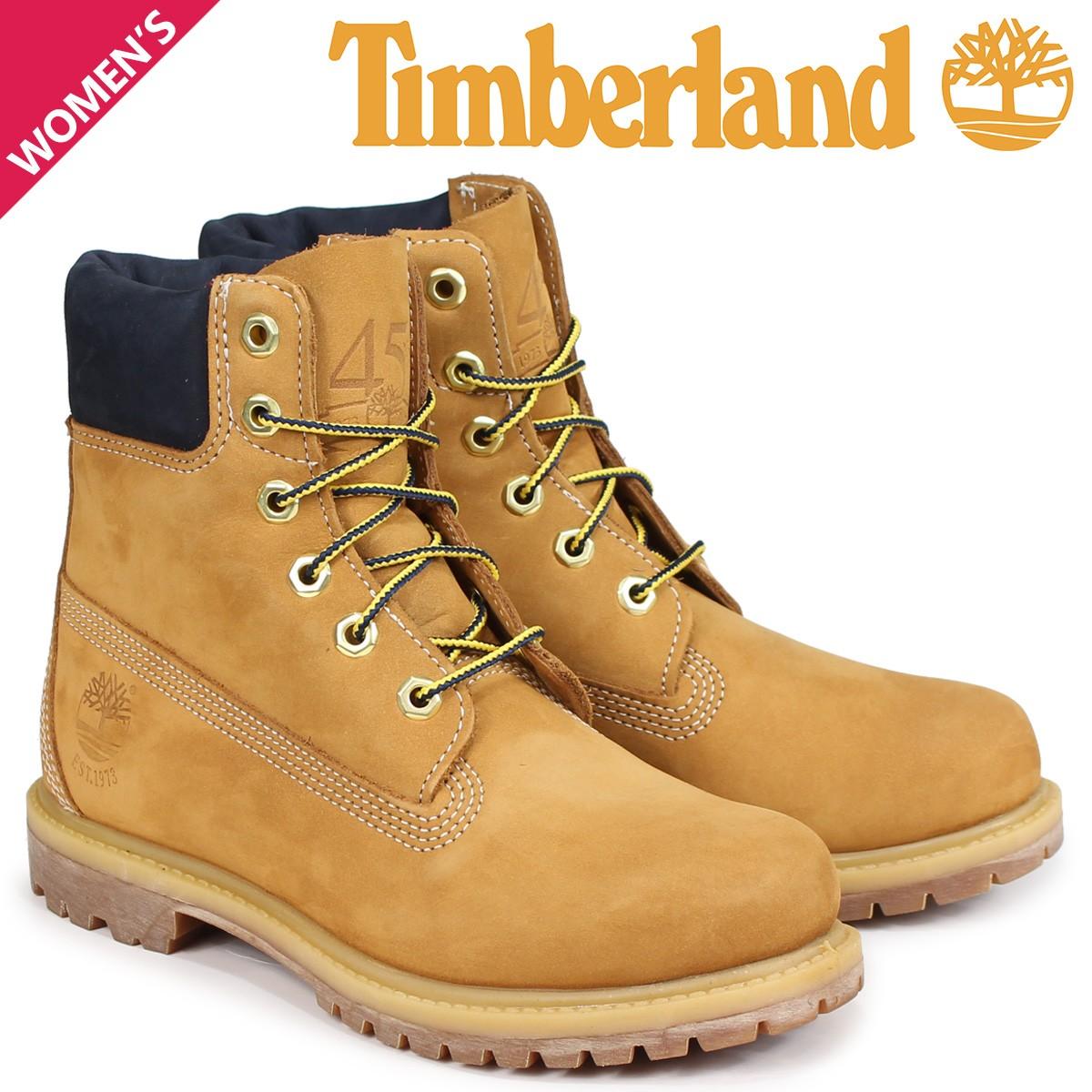 Timberland レディース ブーツ 6インチ ティンバーランド 6INCH WATERPROOF BOOTS プレミアム ウォータープルーフ 12907 ブラック [8/3 追加入荷]