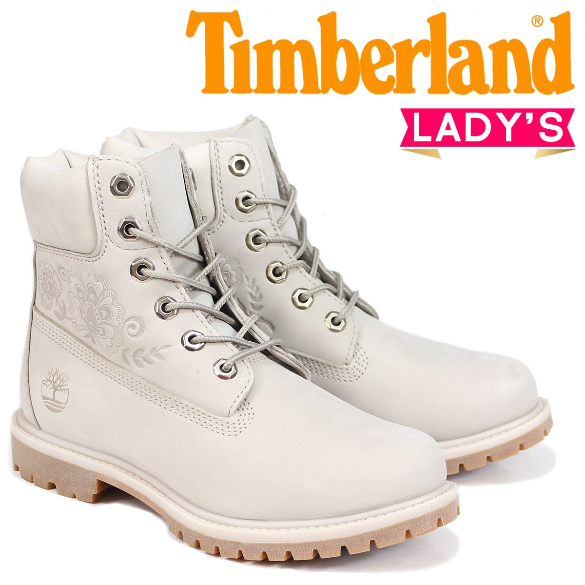 Timberland ブーツ レディース 6インチ ティンバーランド 6-INCH PREMIUM BOOTS A1SXO Wワイズ グレー [8/2 新入荷]