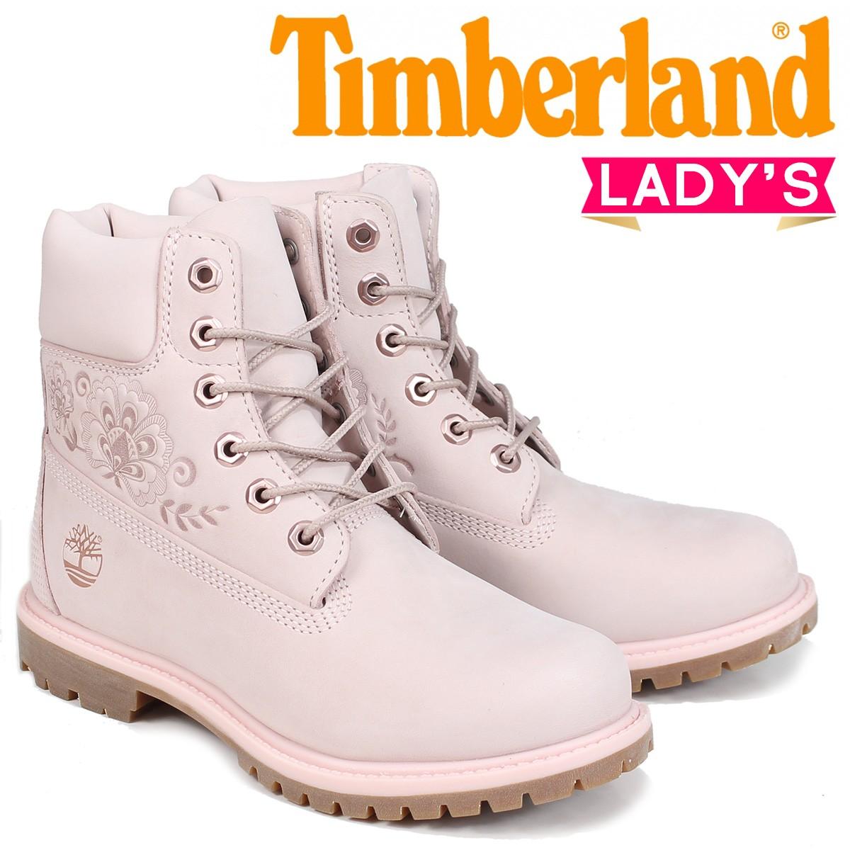 Timberland ブーツ レディース 6インチ ティンバーランド 6-INCH PREMIUM BOOTS A1TKO Wワイズ ピンク [8/2 新入荷]