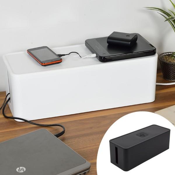 ケーブルボックス テーブルタップボックス
