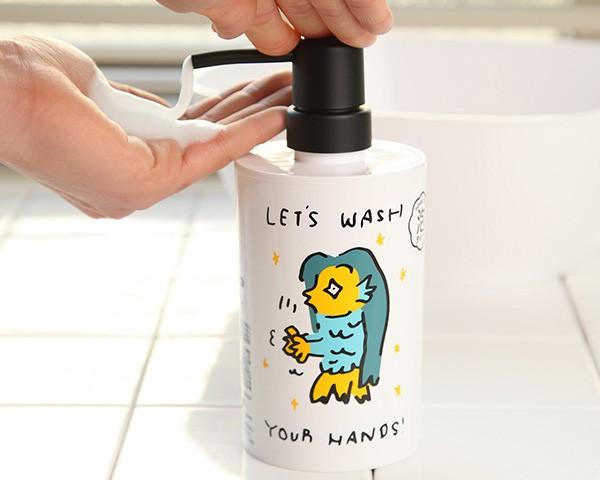 ディスペンサー 泡 360ml アマエビちゃんハンドソープ泡 泡タイプ おしゃれ 手洗い ハンドソープ