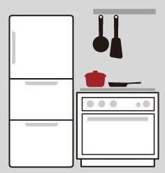 キッチン収納へ