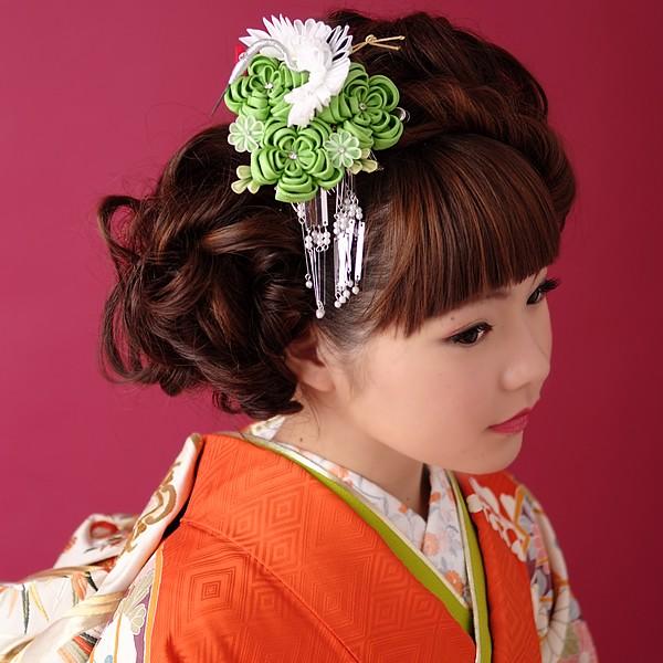 振袖用髪飾り 前撮り 日本髪