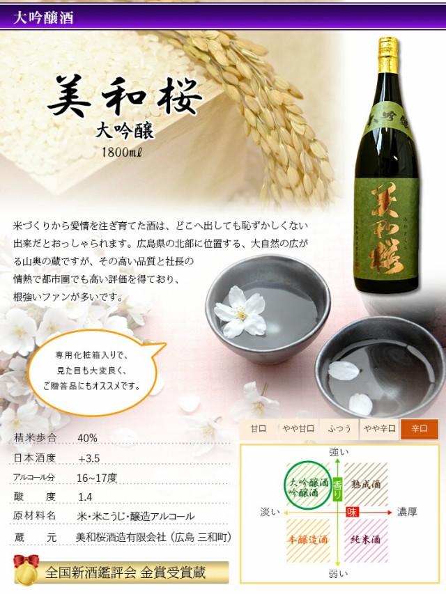美和桜 大吟醸1800