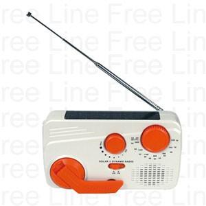 伸縮アンテナ付きラジオ