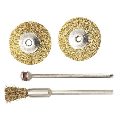 プロクソン・真鍮ワイヤーブラシセット3本・NO.28960・先端工具・ホビーツール・プロクソン製品・DIYツールの画像