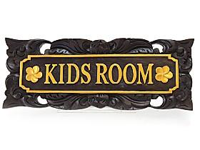 アジアン雑貨 ドアプレート(KIDS ROOM)
