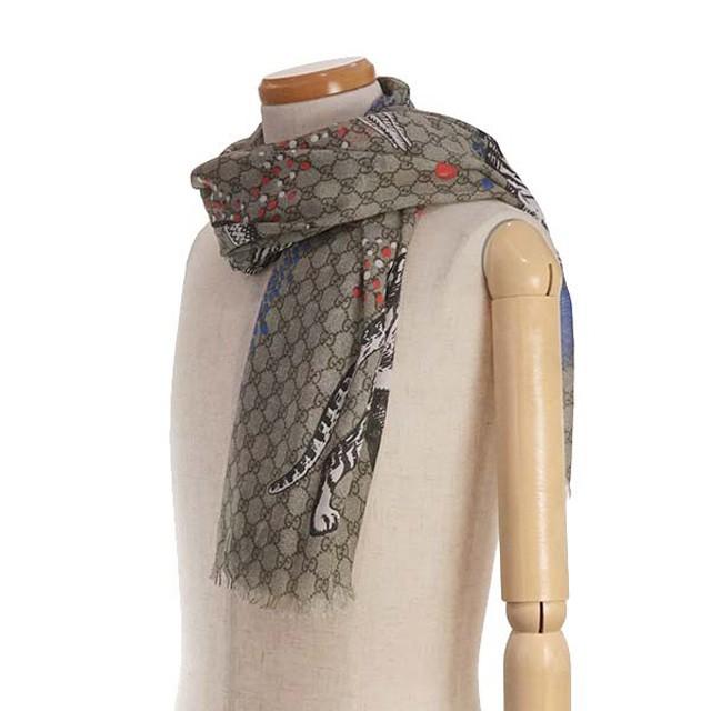 グッチ シルク スカーフ