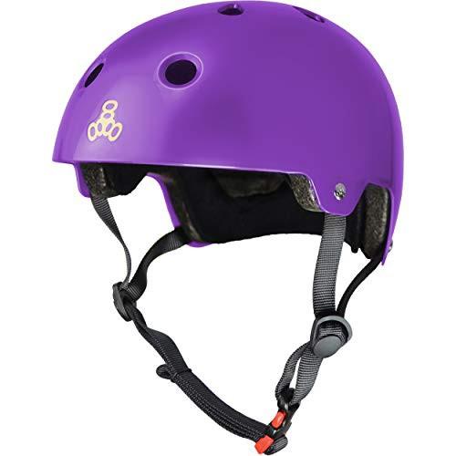 X-Small//Small Purple Glossy Triple Eight 3006 Dual Certified Helmet
