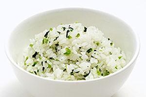 青菜ご飯調理例