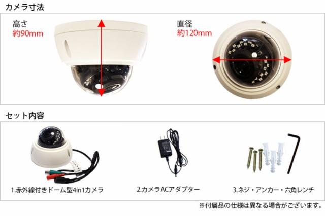 カメラ固定用ネジ、電源アダプター付属。