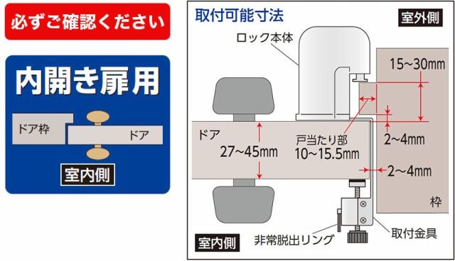取付可能なドア各部の寸法
