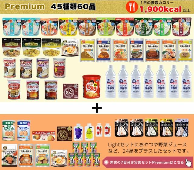 5年保存 充実の7日分 非常食 セット Premium(プレミアム)