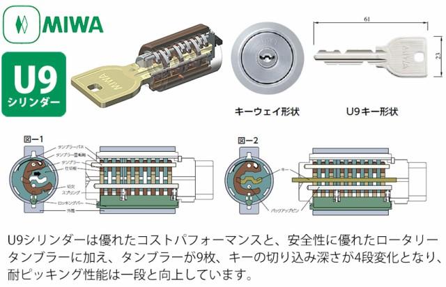 MIWA U9シリンダー